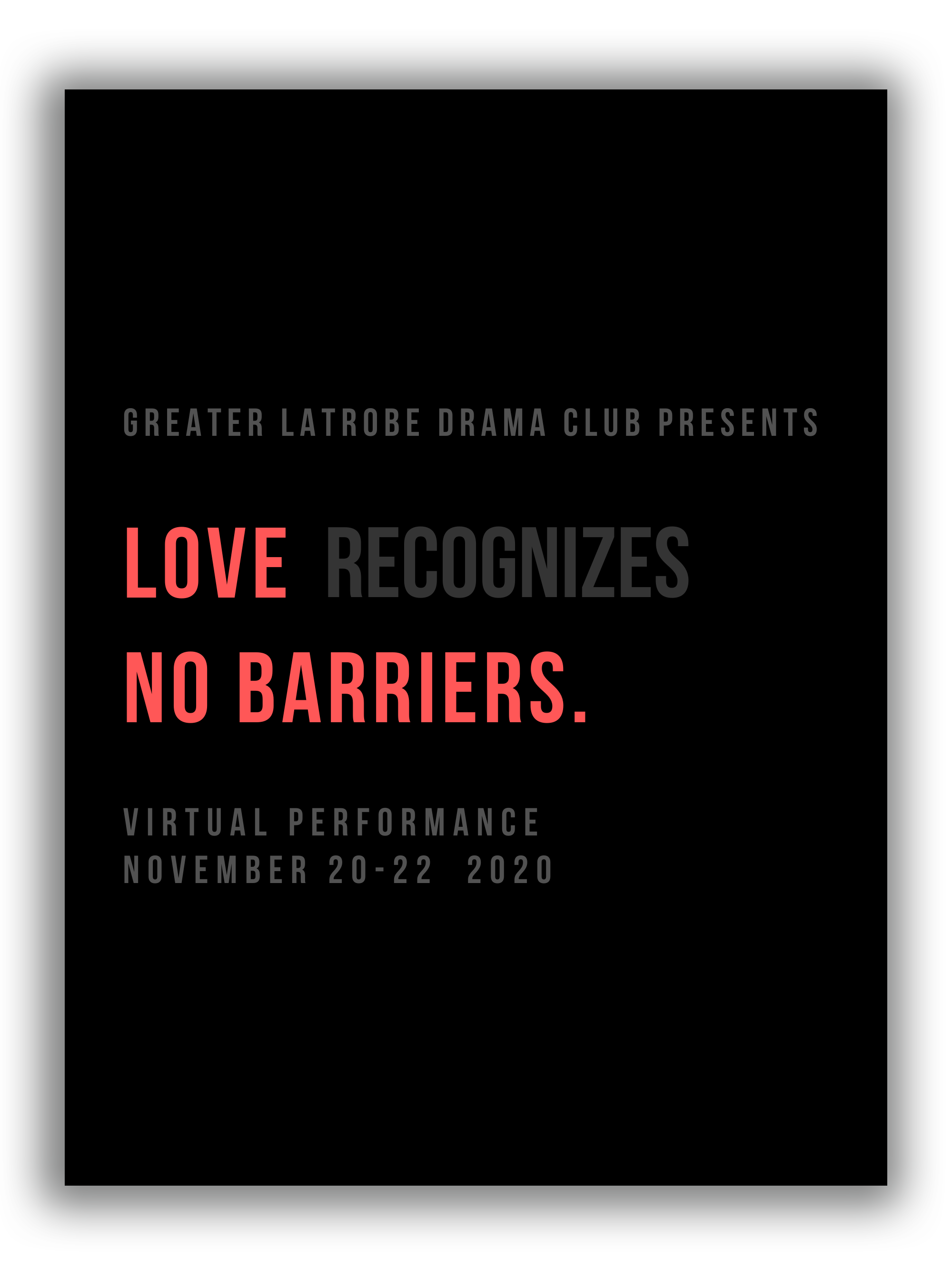 Love...No Barriers Poster